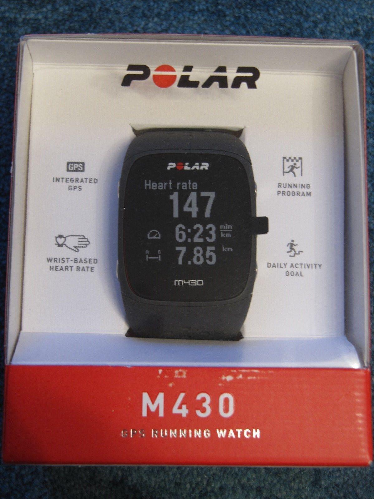 polar m430 Sportuhr Laufuhr, Pulsuhr mit GPS, neu OVP anthrazit,nicht aktiviert