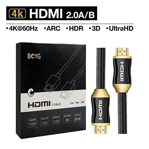 Premium 4K HDMI Kabel 2M HighSpeed HDMI 2.0a/b Kabel kompatibel mit 4K Ultra HDTV/ Full HD  HDR, 3D, ARC,CEC, Ethernet /HDMI Kabel Für TV, Computer ,PC Monitore , Laptop, , PS4/PS4 Pro ,Beamer ,Blue-ray ,DVD-Player, bildschirm ,Roku, Xbox,Wii