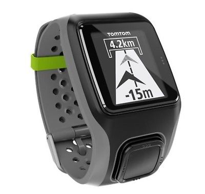 TomTom Multisport GPS Uhr Sport  Shwarz - Grau Laufen Schwimmen Fahrrad