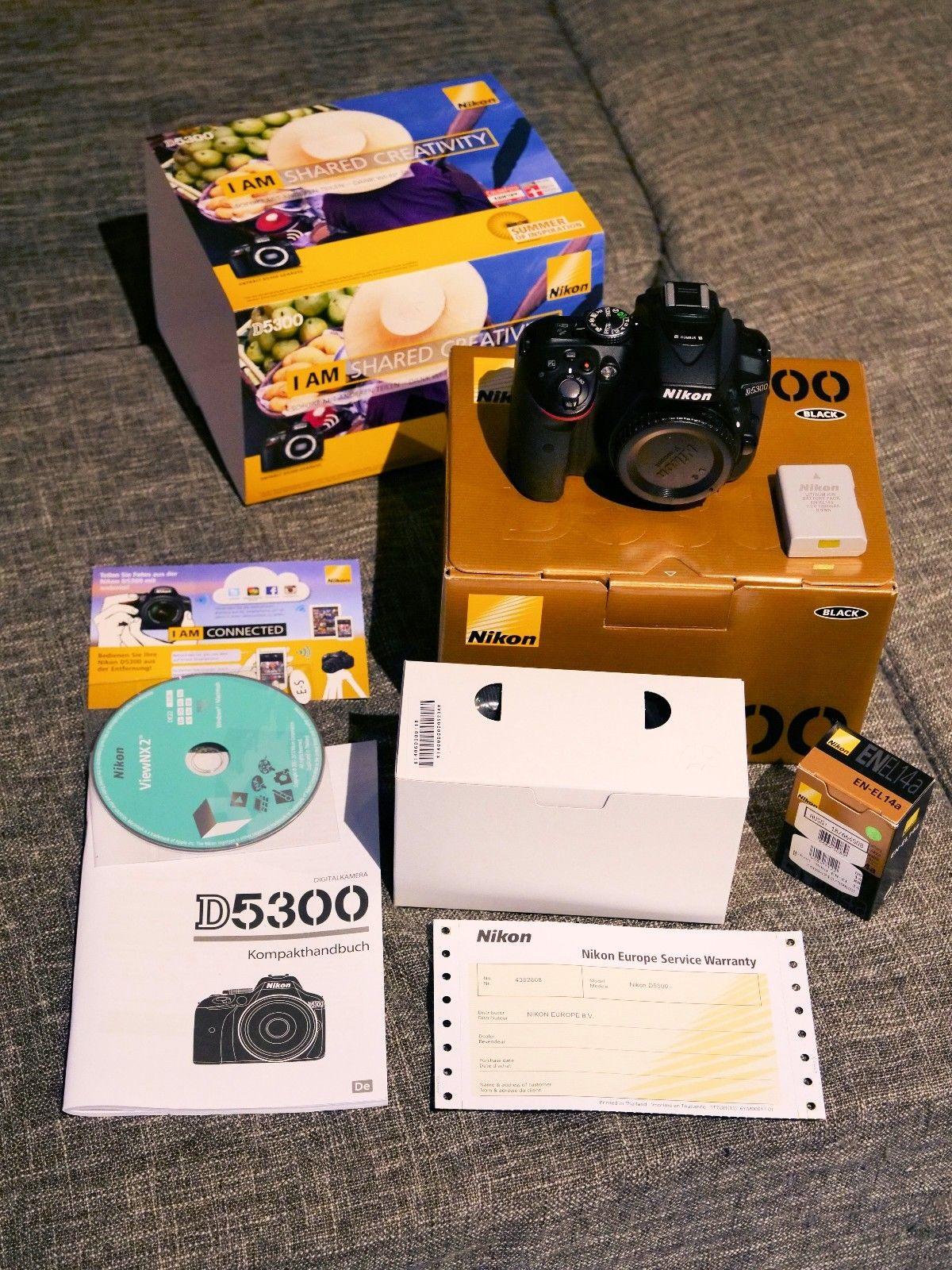 Nikon D D5300 24.2MP Digitalkamera - Anthrazit (Nur Gehäuse)