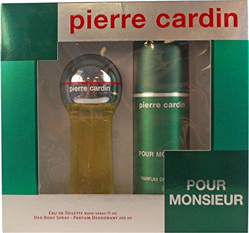 Pierre Cardin Pour Monsieur 75ml EDT Spray 200ml Deo Geschenkset für Sie