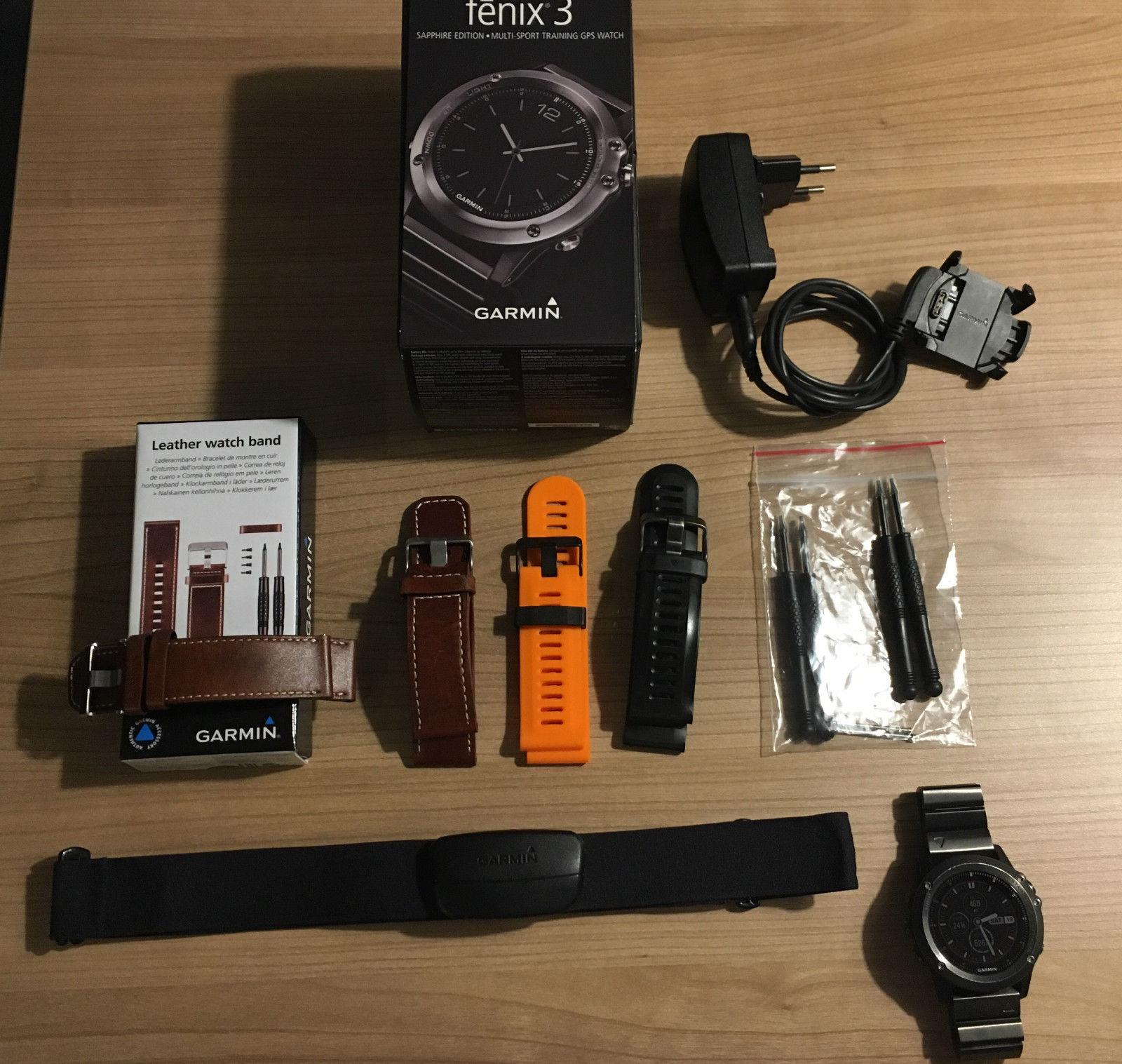 Garmin fenix 3 Saphir Multi-Sport Uhr mit GPS