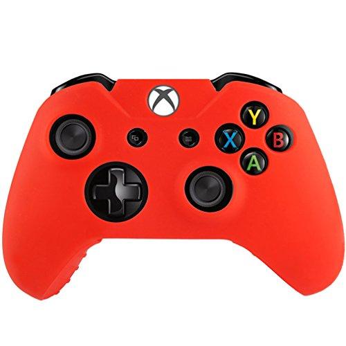 Silikon Schutzhülle für Xbox One Controller Gummi Bumper rot, flexibel