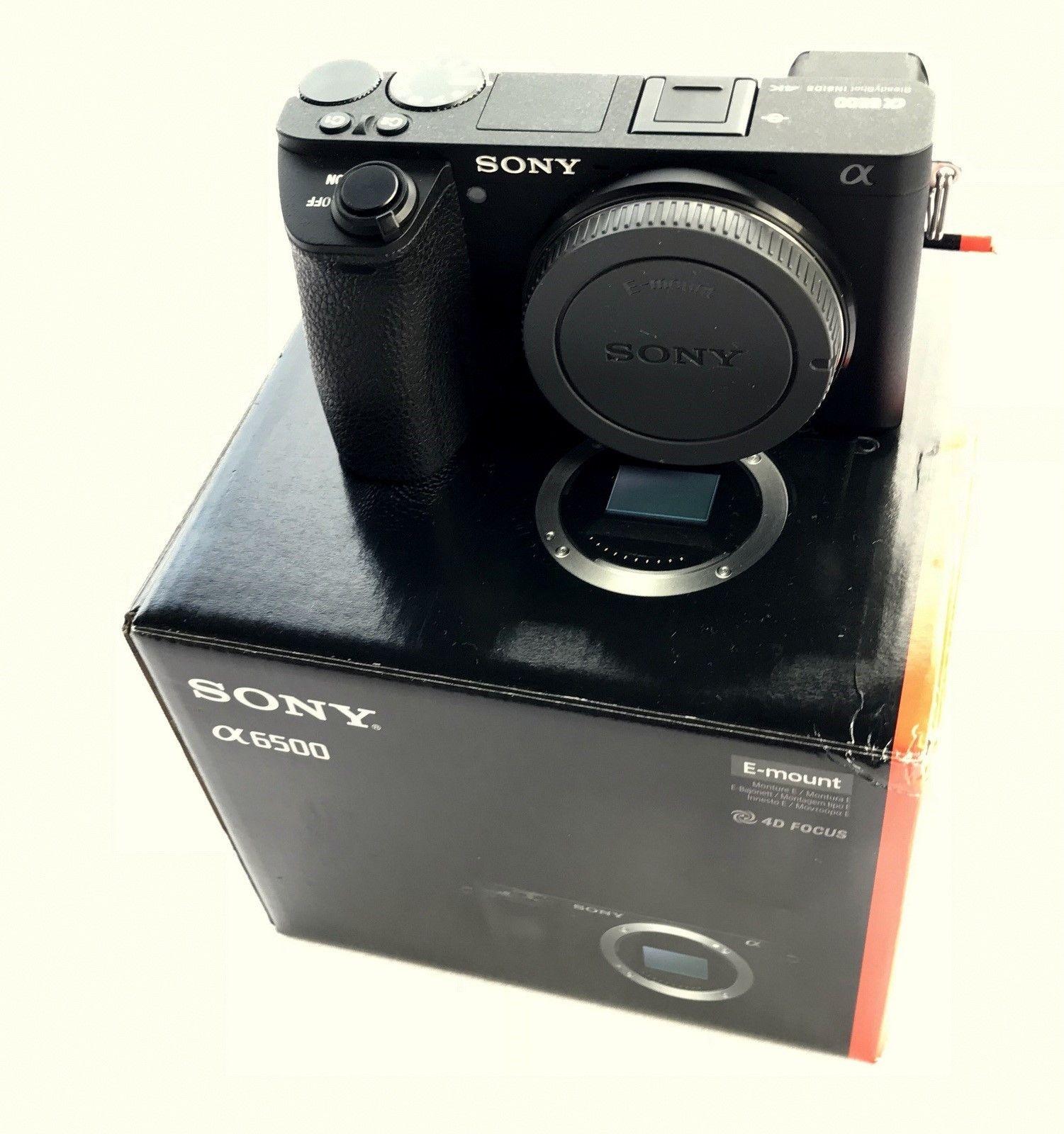 Sony Alpha ILCE-6500 24.2 MP Digitalkamera - Schwarz (Nur Gehäuse) in OVP