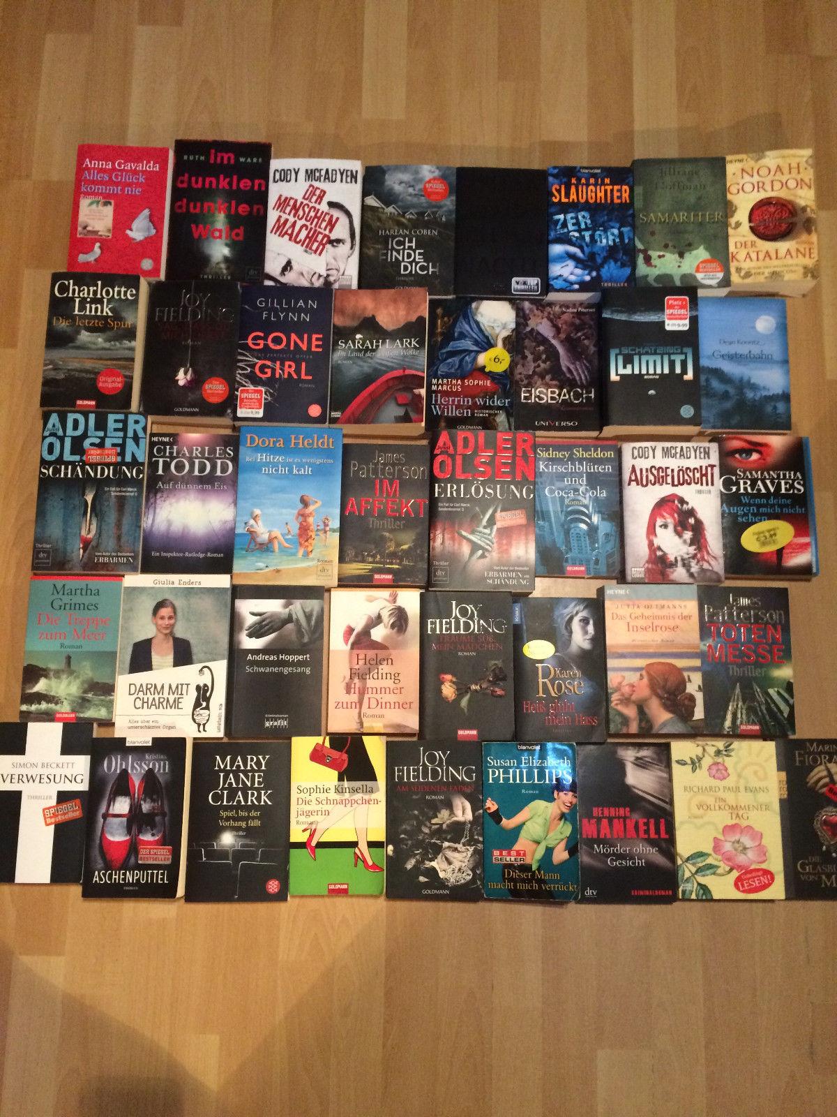 Bücherpaket Krimi Thriller 40 stck Bücher Belletristik Sammlung Konvolt