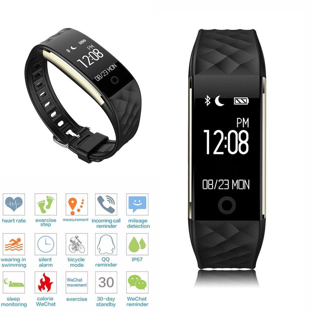 Smartwatch Armband Handy Pulsuhr Schrittzähler Sport Fitness Tracker Wasserdicht