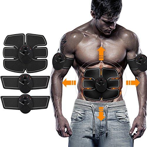Elektrostimulation Muskelstimulation Fitness Geräte, NOWKIN Muskel Trainer EMS-Training Muskelaufbau Fettverbrennungn Massage-gerät Home Fitness Machine Elektroden Pads zu Hause fü Männer Frauen