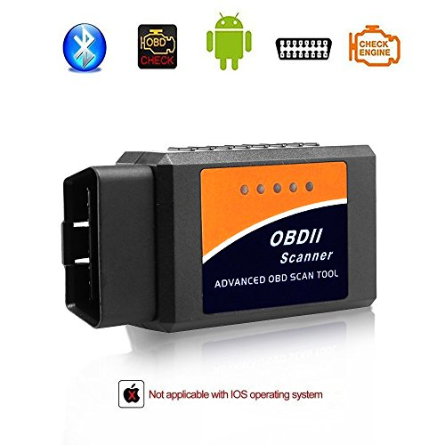 Giveet Auto-Bluetooth OBD2Scanner-wireless OBD 2Scan Tool Schnittstelle Scanner-OBDII Auto-Code-Leser, Motorkontrollleuchte-Diagnosegerät für Android & Windows Geräte