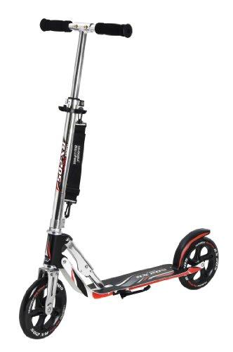 HUDORA Big Wheel Scooter 205, Tret-Roller klappbar - City-Scooter - 14724, schwarz/rot