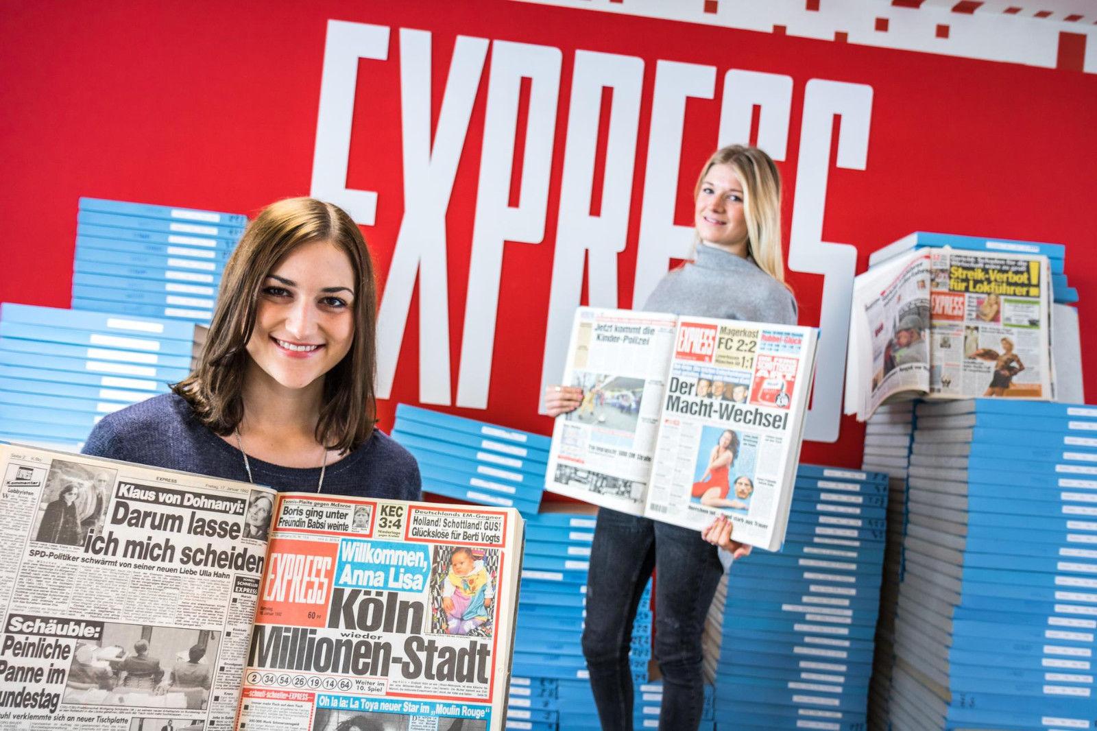 EXPRESS-Sammelbänder - ein Stück Zeitgeschichte aus über 50 Jahren Zeitung