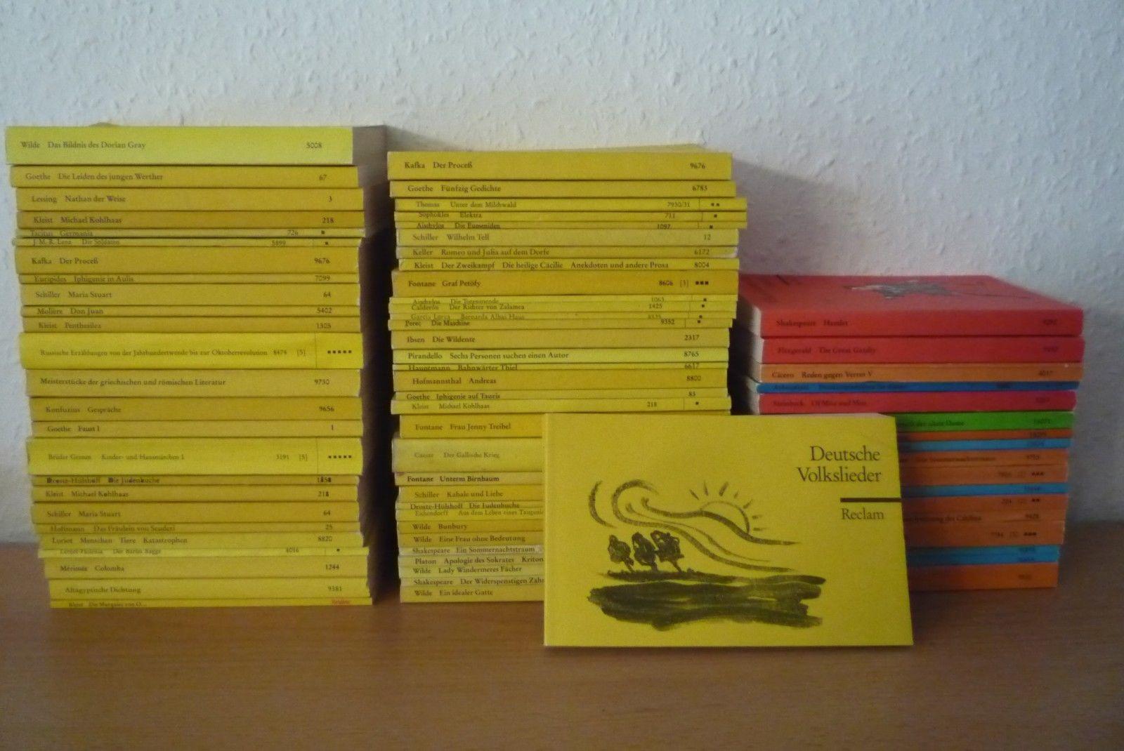 über 70 Reclam Universal Bibliothek Hefte Klassiker Fremdsprachen Konvolut