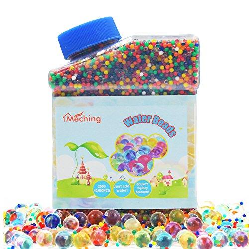 Wasser Perlen 260g (40000 Stücke) Orbeez Wassergel Gallert-Wachsenden Bälle Mischende Regenbogen für Kinder Taktil Sensorisch Spielzeug, Vasen, Pflanzen, Hochzeit und Heimtextilien