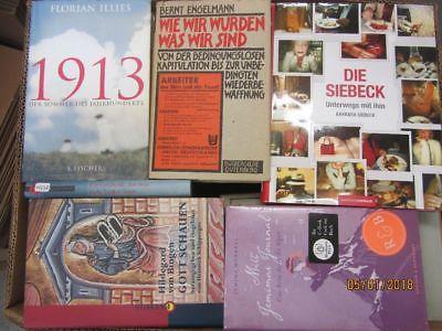 43 Bücher Hardcover Romane Sachbücher verschiedene Themen Paket 1