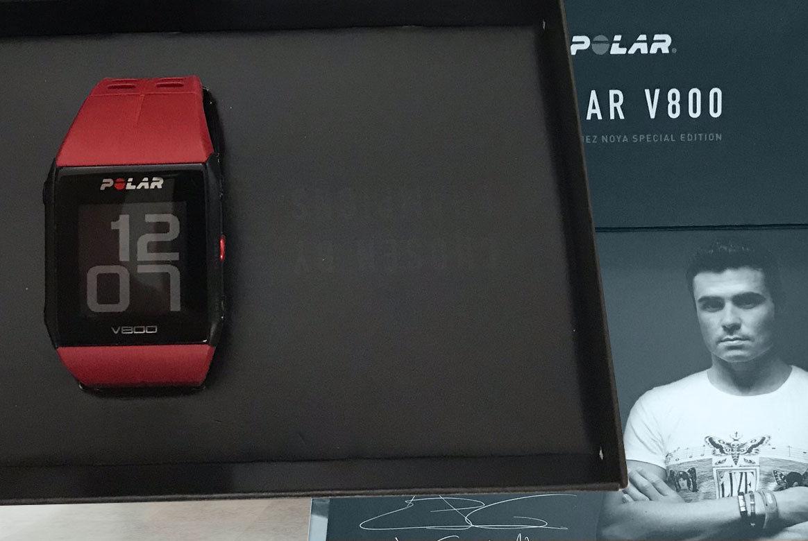 Polar V800 HR mit Brustgurt GPS Pulsuhr Sportuhr | Javier Gomez Edition