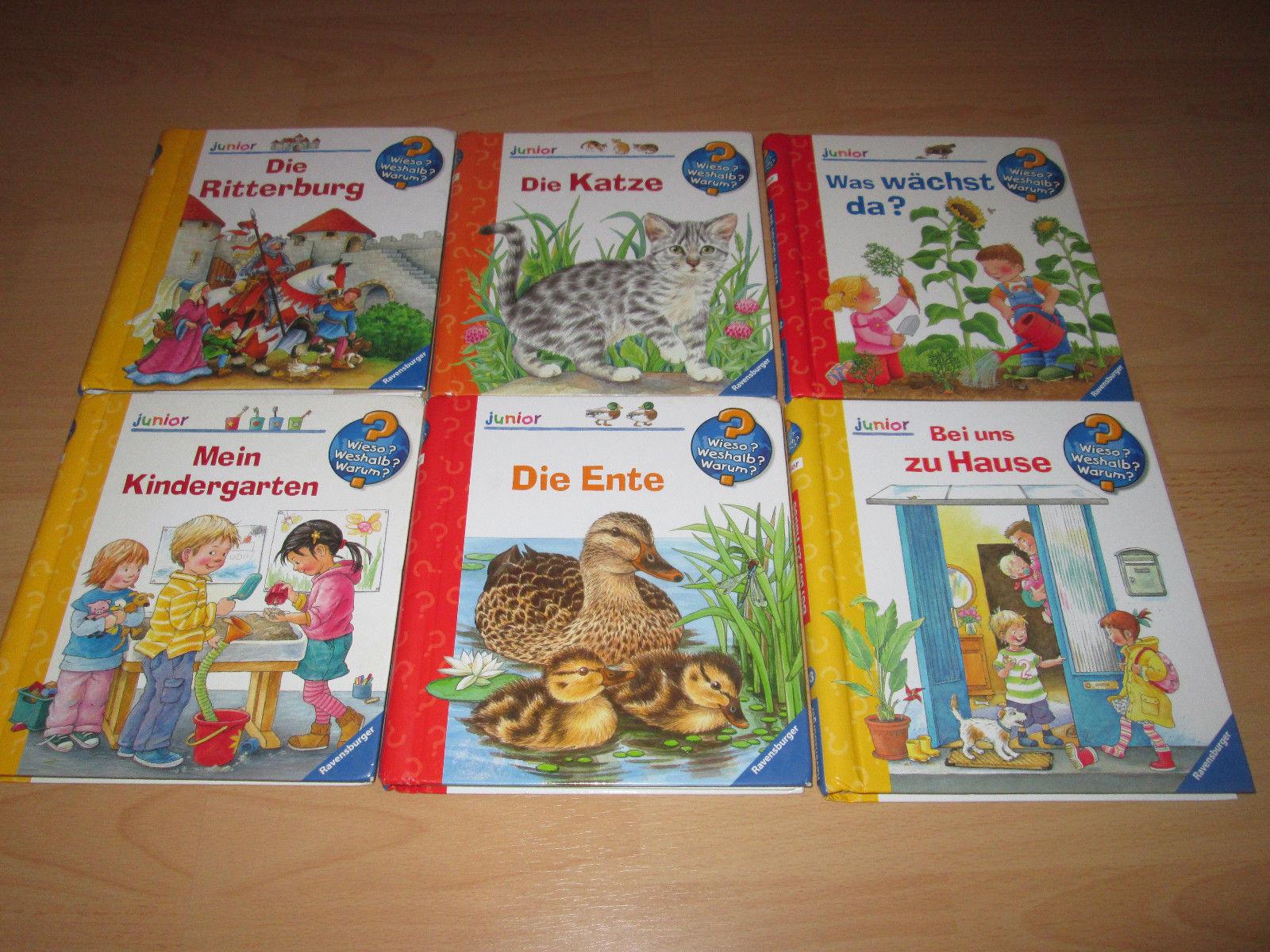 Paket mit 6 Kindersachbüchern WIESO WESHALB WARUM JUNIOR (Ravensburger)