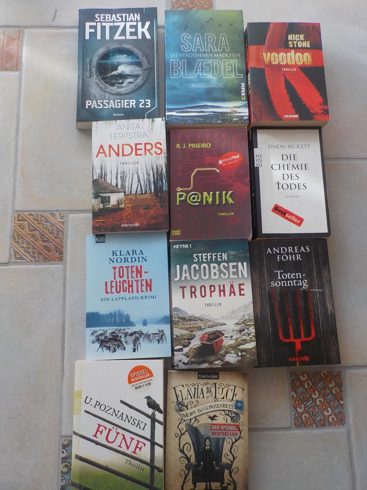 Buchpaket Bücherpaket Konvolut  Krimi Thriller Fitzek/Föhr dänisch finnisch