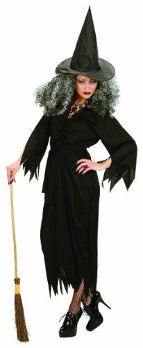 Widmann 02653 - Kostüm Hexe, Kleid, Gürtel und Hut, Größe L