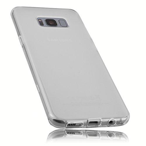 mumbi Schutzhülle für Samsung Galaxy S8+ Hülle transparent weiss