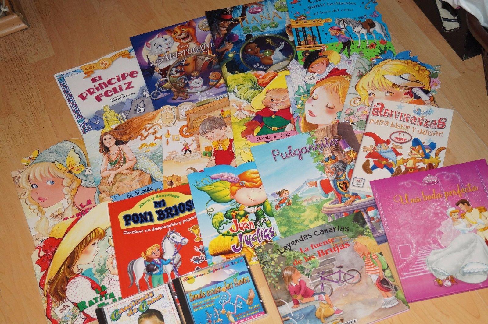 17 spanische Kinder Märchen / Disney Bücher + 2 CDs Sammlung im Paket