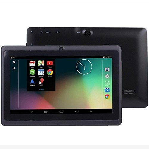 Cewaal Q88 7 Zoll Tablet PC, Wifi Quad Core Android 4.4, 1GB RAM + 16GB Speicher 32GB Erweiterung, Doppelkamera 0.3MP, Bluetooth HD 1024 x 600 Display, Allwinner A33, Schwarz