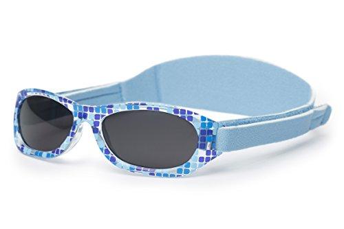 Sonnenbrille Baby | für Jungen | 0 monat bis 2 Jahren | MIT WEICHEM VERSTELLBAREM NEOPRENBAND | 100% UVA- und UVB-Schutz | sicher, bequem und widerstandsfähig | ideales Geschenk | Kiddus Baby