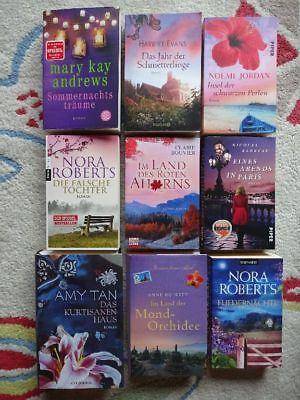 Bücherpaket 9 Romane für Frauen Liebe Romantik Andrews Evans Roberts Bouvier Tan