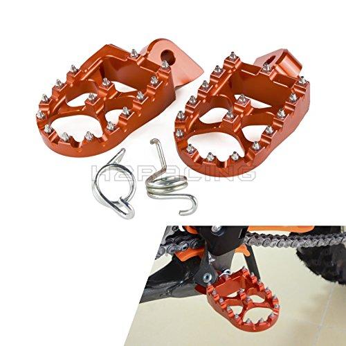 H2Racing Motorräder Fußrasten Fußrastenanlage Fußstützen für 690 ENDURO/R SMC/R 08-17 SUPER MOTO/R 690 07-09 950 05-08,950 ENDURO/R 990 ADVENTURE/R/S ALL,SUPER MOTO/R/T 990 09-13 ADVENTUR/R/S/T