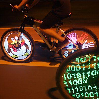 Fahrrad Licht DIY Programmierbare 128 LEDs Fahrradrad Speichenlicht Wasserdicht