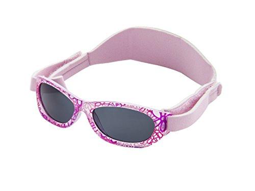 Sonnenbrille Baby | für Mädchen | 0 monat bis 2 Jahren | MIT WEICHEM VERSTELLBAREM NEOPRENBAND | 100% UVA- und UVB-Schutz | sicher, bequem und widerstandsfähig | ideales Geschenk | Kiddus Baby