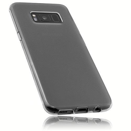 mumbi Schutzhülle für Samsung Galaxy S8 Hülle transparent schwarz