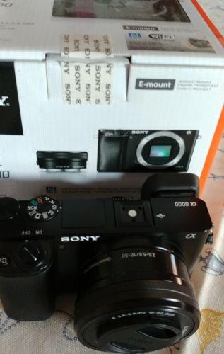 Sony Alpha 6000 a6000 Aps-C 24,3 MP Digitalkamera - Black ca.500 Auslösungen