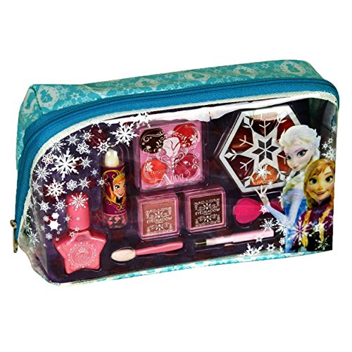 Markwins Disney Frozen Kosmetiktäschchen mit Reißverschluss, 1er Pack (Schminktasche mit Beauty-Produkten für Augen und Lippen, Accessoires)
