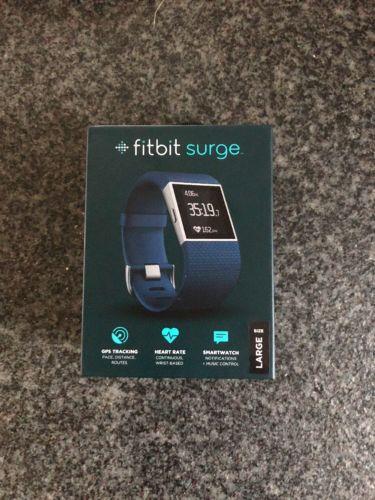 Fitbit Surge, Blau, Gr L