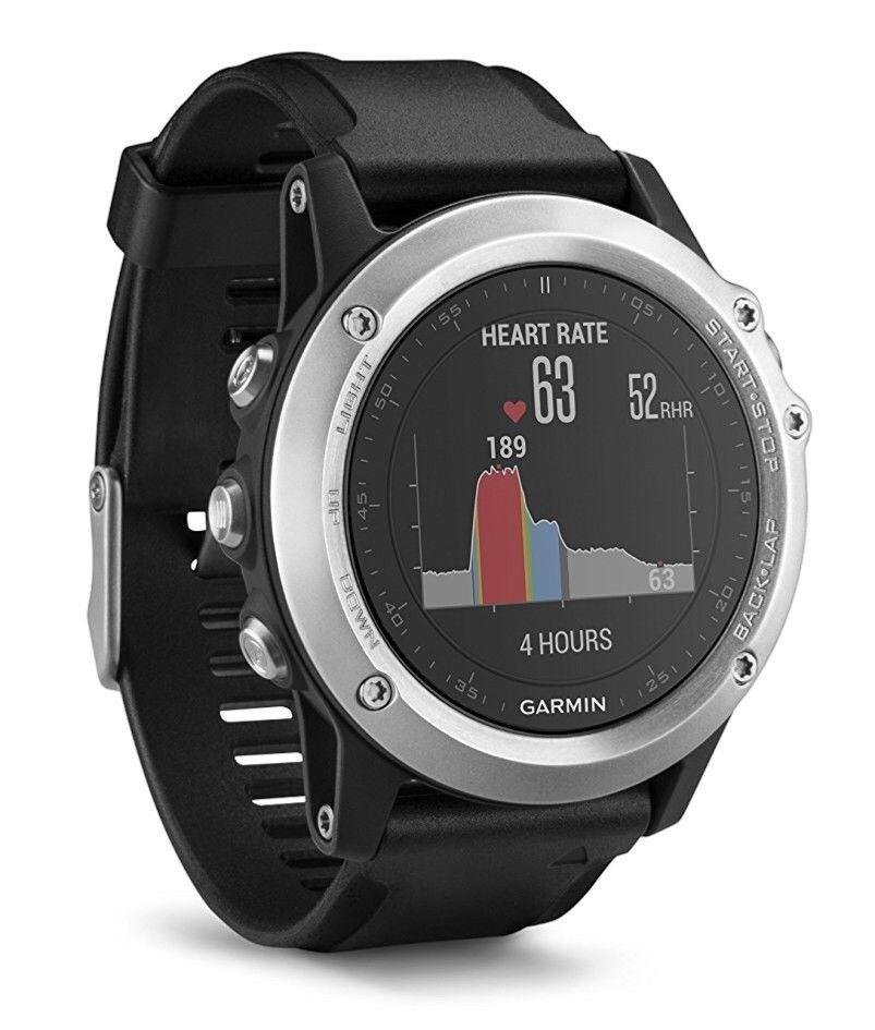 GARMIN fenix 3 HR, GPS Multisportuhr, Schwarz/Silber Bluetooth WLAN NEU in OVP