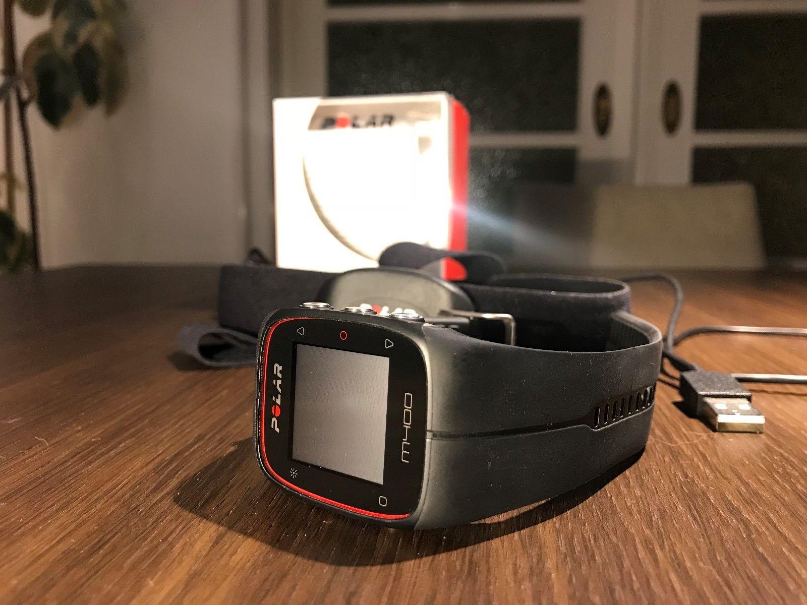 Polar M400 HR GPS Laufuhr inkl. H7 Herzfrequenzsensor und Brustgurt schwarz