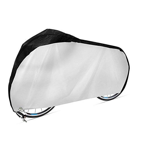 Dokor Fahrradabdeckung 420D Wasserdichtes Atmungsaktives Oxford-Gewebe Fahrradgarage mit Schlossösen Schutz, Universal Fahrrad Schutzhülle - Schwarz