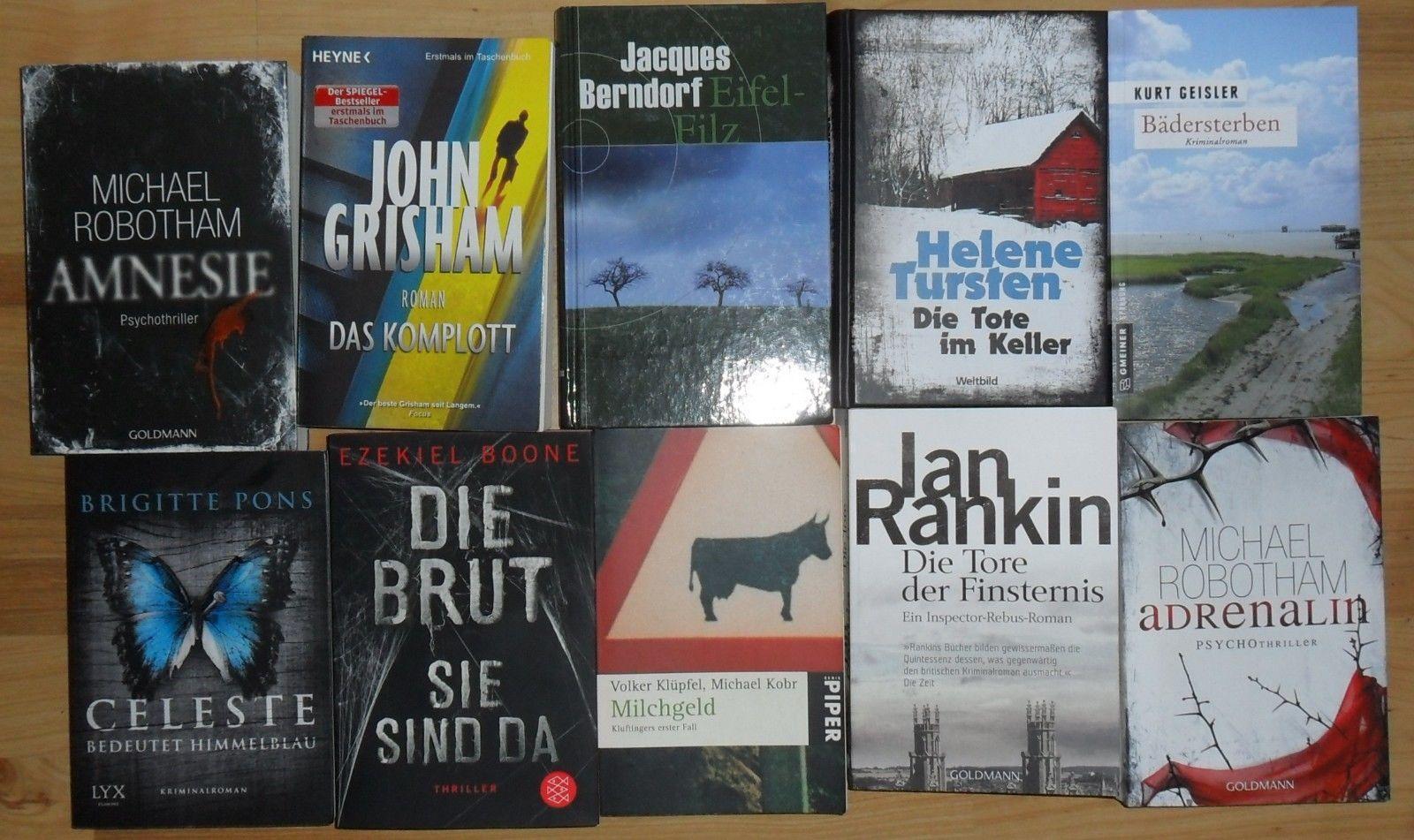 °10 x Krimi - Thriller - Bücherpaket° TOP!!!