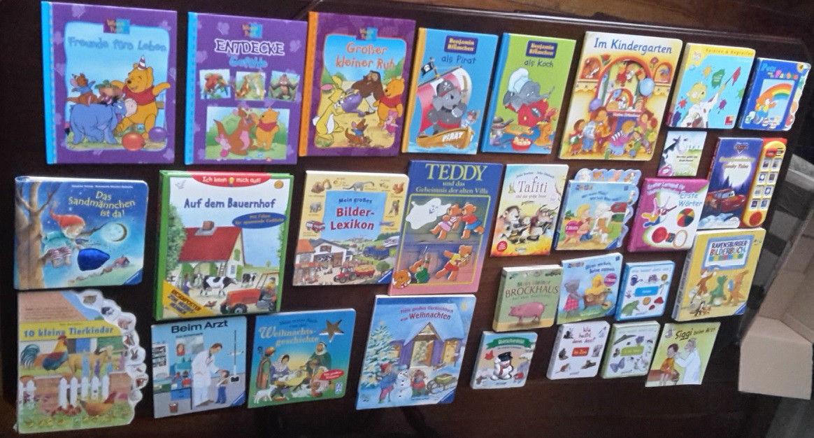 Kinderbücher Paket 29 Stück, Winnie Puuh, Benjamin Blümchen, Bilderbücher Disney