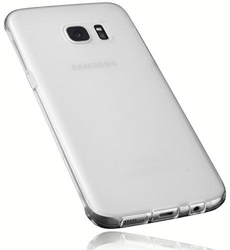 mumbi Schutzhülle für Samsung Galaxy S7 Edge Hülle transparent weiss