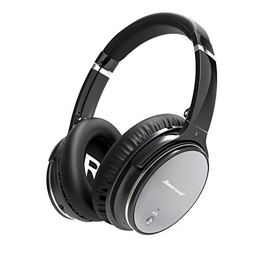 Bluetooth Wireless Faltbar Kopfhörer Noise Cancelling - Hiearcool L1 HiFi Stereo Drahtlose Headset Over Ear mit Mikro Lautstärkeregler für alle Geräte mit Bluetooth oder 3,5 mm Klinkenstecker
