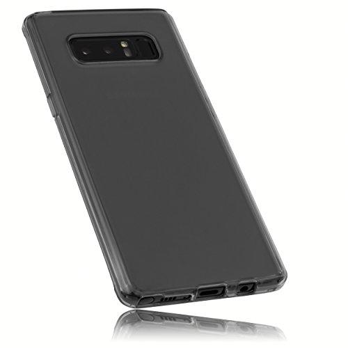 mumbi Schutzhülle für Samsung Galaxy Note8 Hülle transparent schwarz