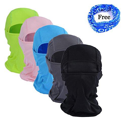 gofriend Mehrzweck-Sturmhaube Maske Outdoor Sport Maske für Damen & Herren–Ideal für Motorrad Ski Radfahren Laufen Camping Wandern–Sommer oder Winter, Seamless Half Face Maske, grün