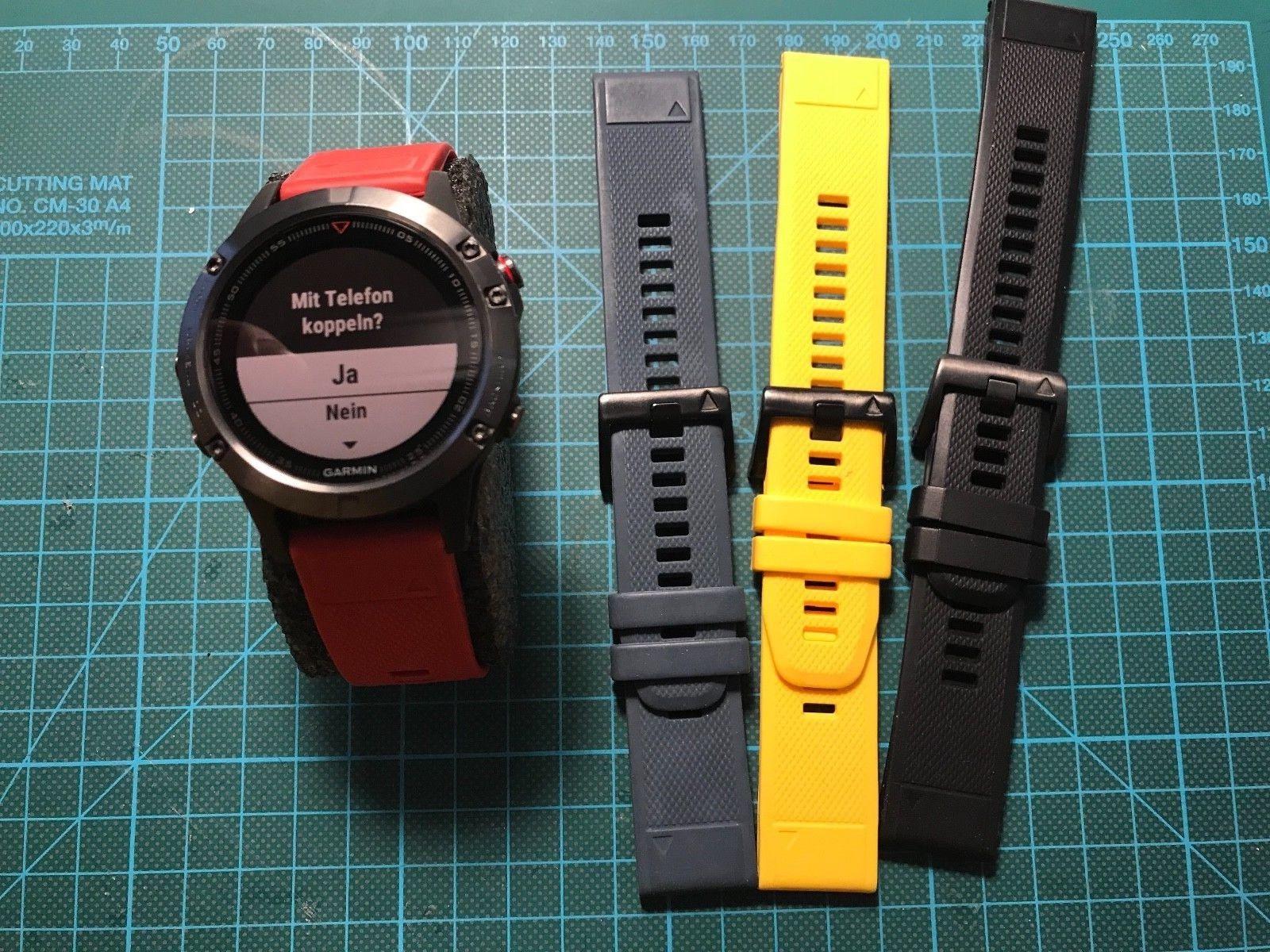 Garmin Fenix 5 mit Garantie und 3 Armbändern