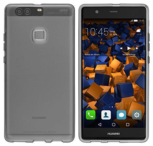 mumbi Schutzhülle Huawei P9 Plus Hülle transparent schwarz