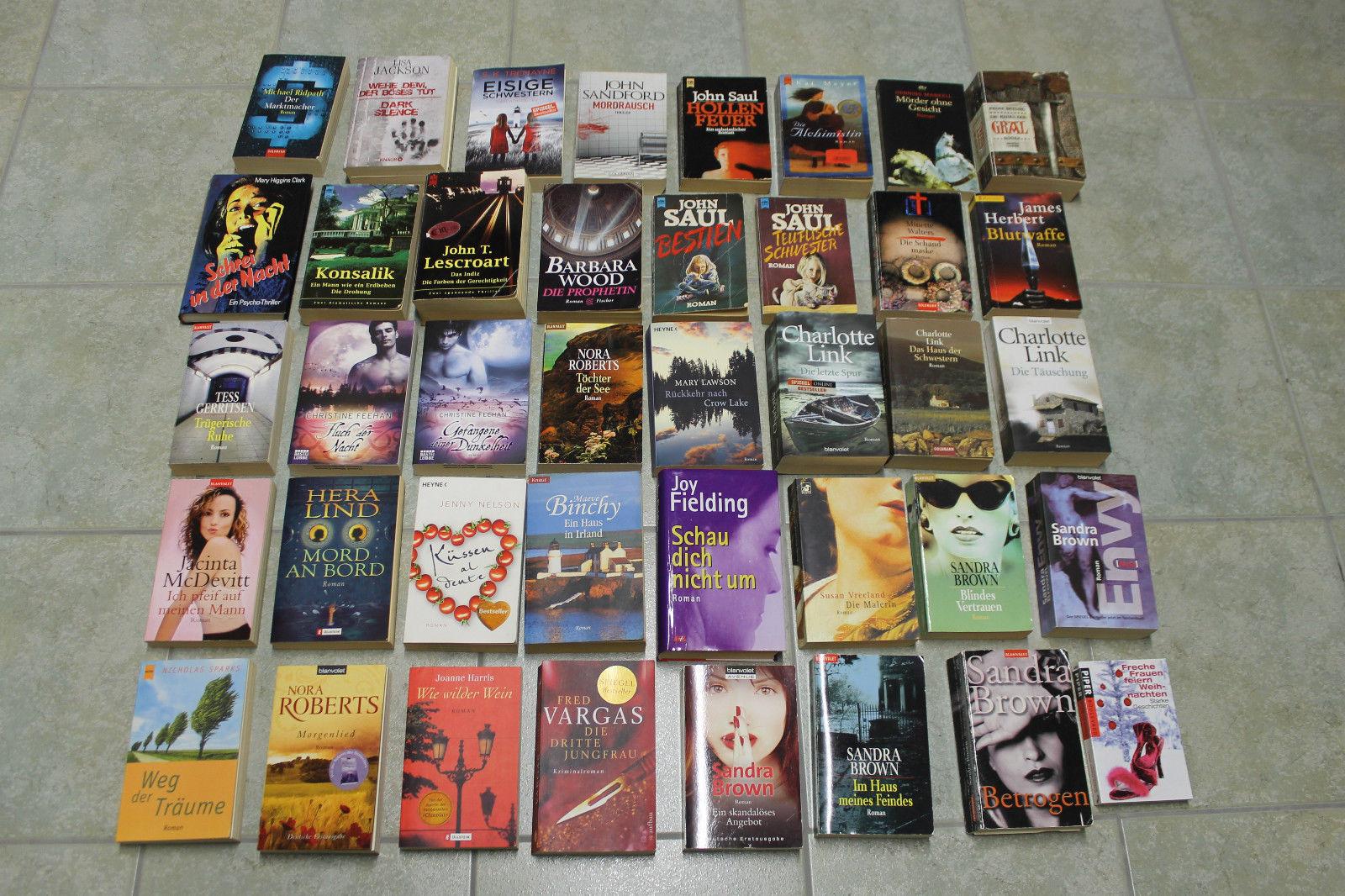 Bücherpaket 40 Bücher Romane Thriller Frauenromane