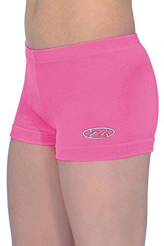 Mädchen The Zone Gymnastik Shorts/Shorts alle farben/Alle Größen - Elektro-rosa, 28 (122-128)
