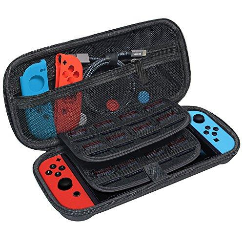 Tasche Case für Nintendo Switch,wellead Nylon Tragetasche Hülle Hardcase für Nintendo Switch Zubehör