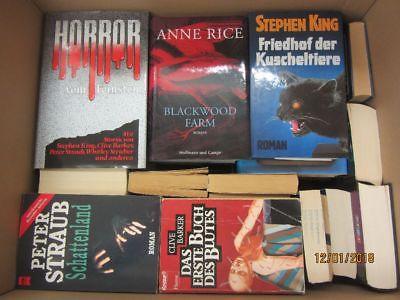 43 Bücher Romane Horrorromane Gruselromane Horror Grusel Straub King Rice u.a.