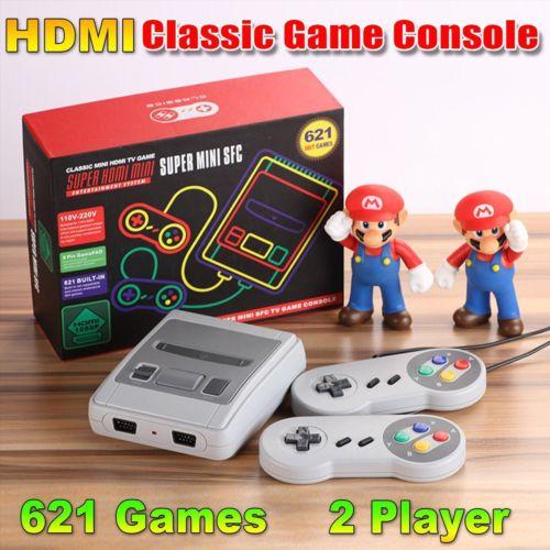 Super Mini SFC HDMI SNES Classic Game Console Entertainment Built-in 621 Games