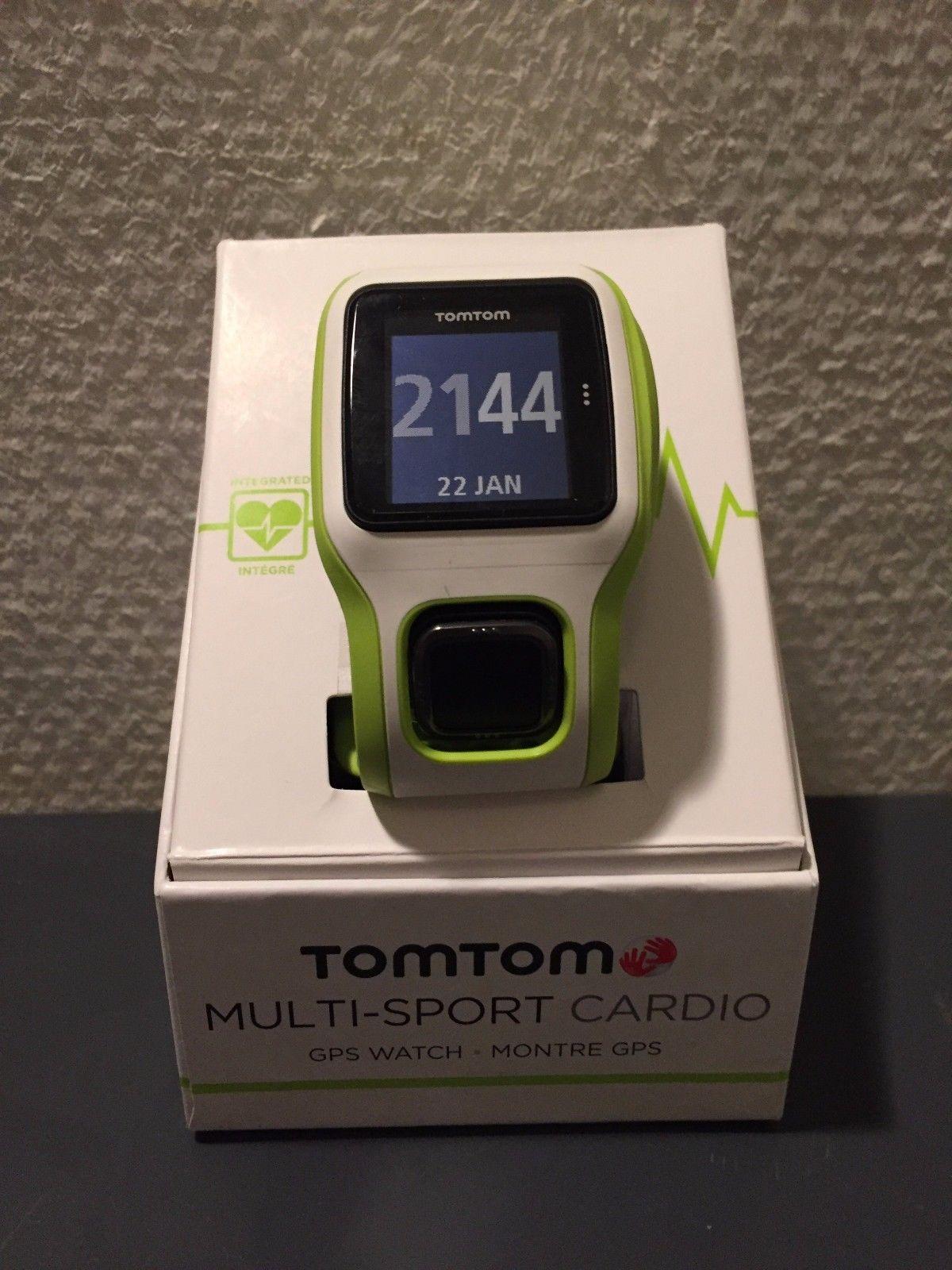 Laufuhr TomTom Multisport Cardio GPS mit 2 Armbändern ,Herzfrequenz am Gelenk